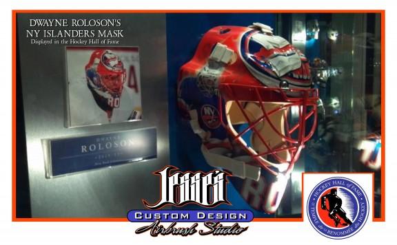 Custom Painting Airbrushing Massachusetts Goalie Masks
